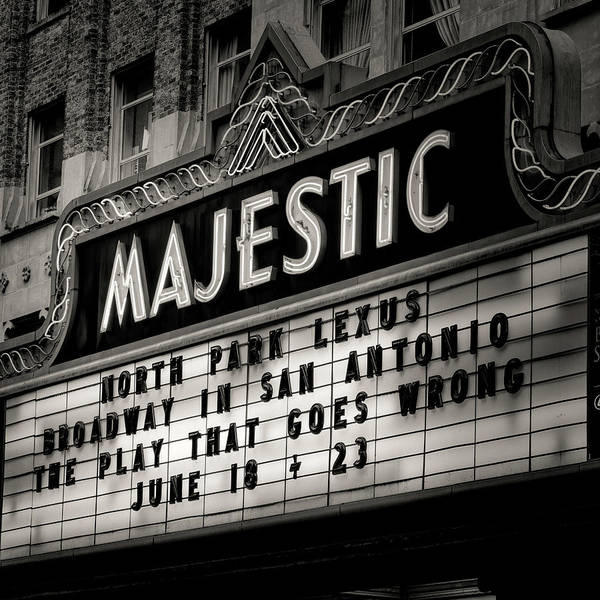 Wall Art - Photograph - San Antonio Majestic Theatre #3 by Stephen Stookey