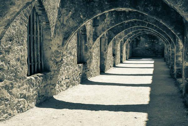 Photograph - San Antonio Mission San Jose - Sepia by Gregory Ballos