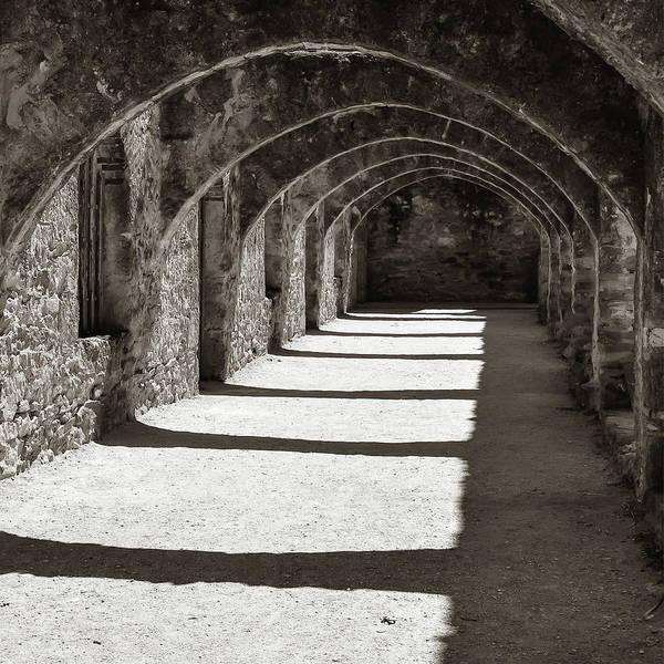 Photograph - San Antonio Mission San Jose - Square Classic Sepia by Gregory Ballos