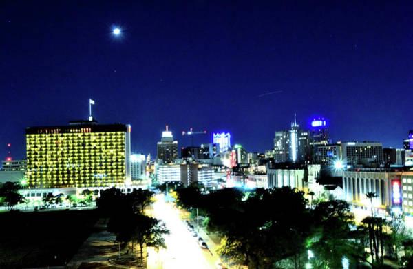 Photograph - San Antonio Moon by Kathy McCabe