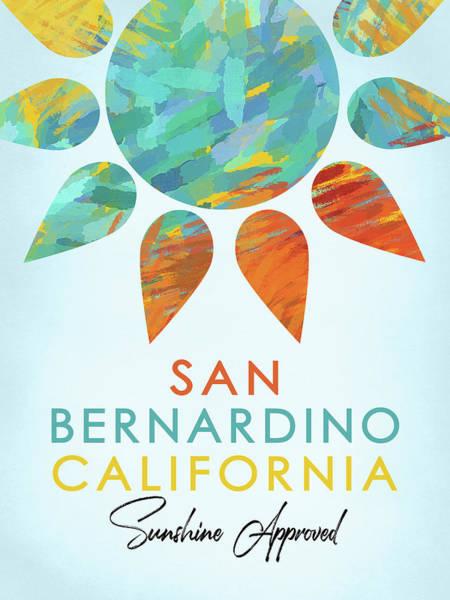 Wall Art - Digital Art - San Bernardino California Sunshine by Flo Karp