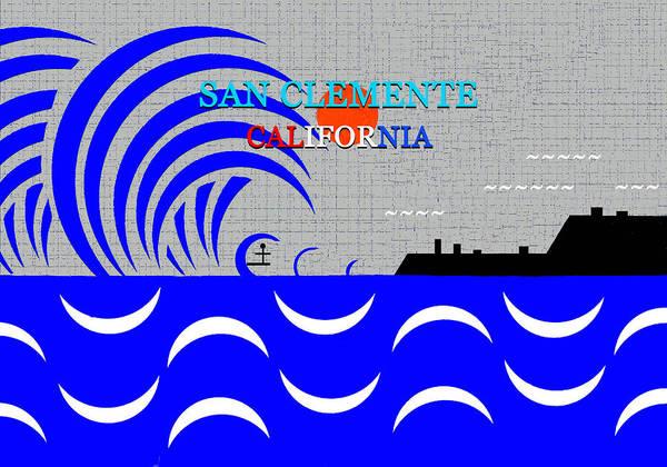Wall Art - Digital Art - San Clemente California Surfing Art by David Lee Thompson