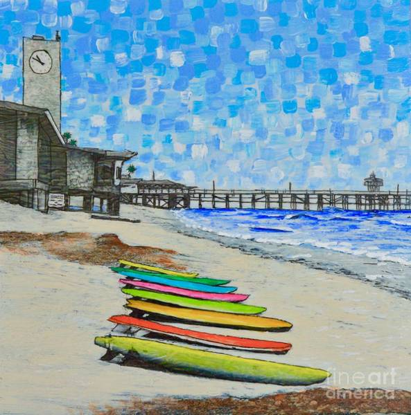 Painting - San Clemente Surf Boards by Mary Scott