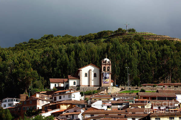 Photograph - San Cristobal Church Cusco Peru by James Brunker