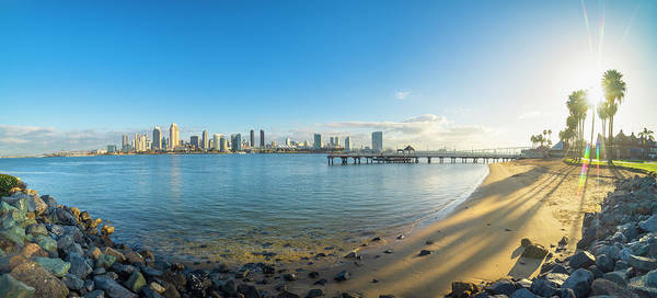 Photograph - San Diego Bay - Panorama by Jonathan Hansen