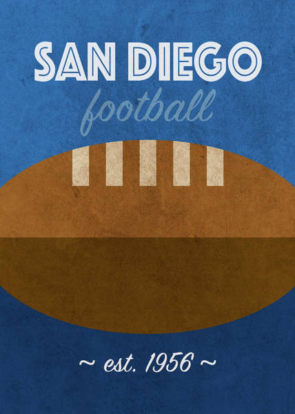 Wall Art - Mixed Media - San Diego College Football Team Vintage Retro Poster by Design Turnpike