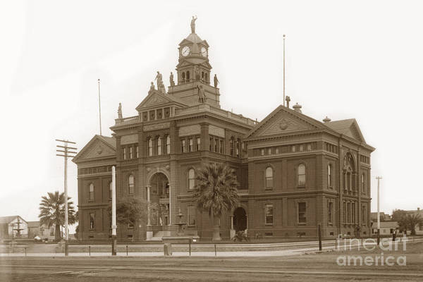 Photograph - San Diego County Courthouse Was Built In 1889 On The Block Bound by California Views Archives Mr Pat Hathaway Archives