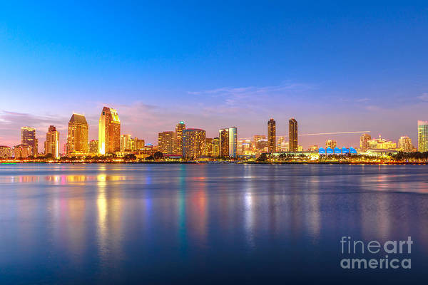 Photograph - San Diego Downtown Twilight by Benny Marty