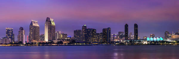 Wall Art - Photograph - San Diego Evening Skyline by Melanie Viola