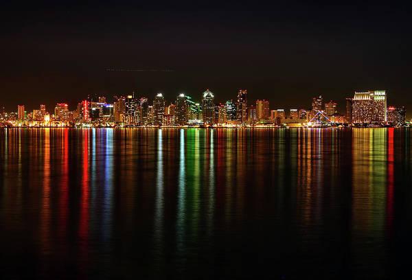 City Of David Photograph - San Diego Skyline From Harbor Island by David Toussaint