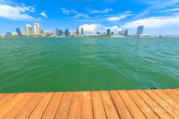 Photograph - San Diego Skyline Wooden Footpath by Benny Marty