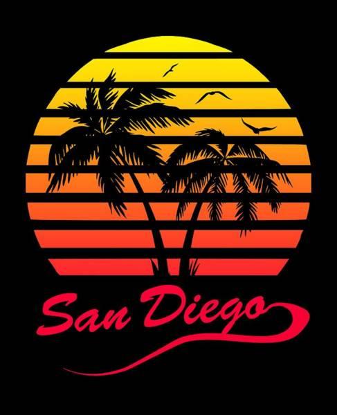 Wall Art - Digital Art - San Diego Sunset by Filip Hellman