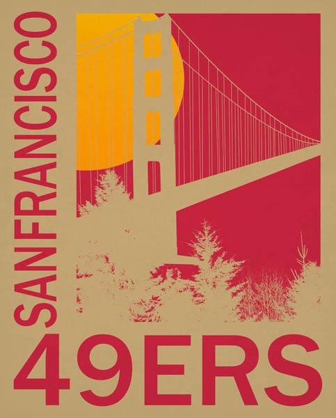 Wall Art - Mixed Media - San Francisco 49ers Retro Vintage Art by Joe Hamilton