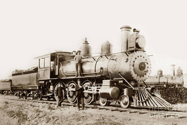 Photograph - San Francisco And San Joaquin Valley Railroad Number 4 And 5 Cir by California Views Archives Mr Pat Hathaway Archives