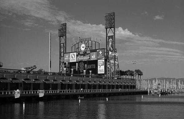 Wall Art - Photograph - San Francisco Bay And Ballpark 2007 Bw by Frank Romeo