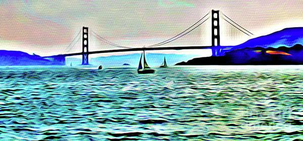 Wall Art - Photograph - San Francisco Bay And The Golden Gate Bridge by Jerome Stumphauzer