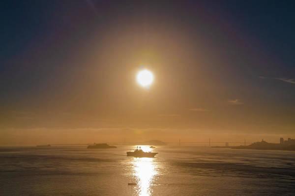Photograph - San Francisco Bay At Sunrise by Bill Cannon