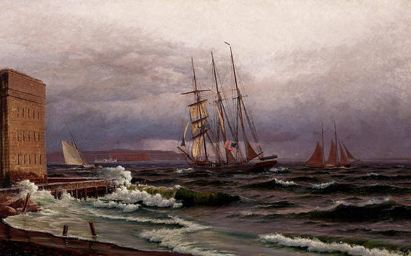 Wall Art - Painting - San Francisco Bay From Fort Point by Raymond Dabb Yelland