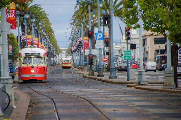 Wall Art - Photograph - San Francisco Cable Cars - Market - Castro Line by Bill Cannon