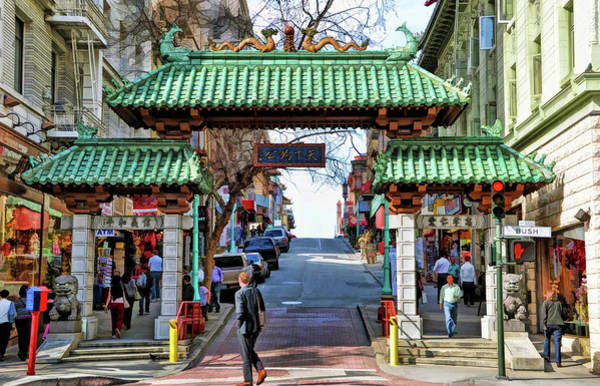 Painting - San Francisco Chinatown by Christopher Arndt