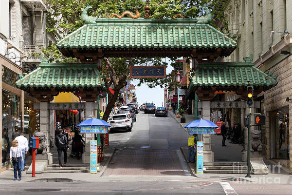 Photograph - San Francisco Chinatown Dragon Gate R399 by Wingsdomain Art and Photography