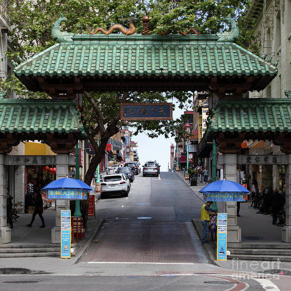 Photograph - San Francisco Chinatown Dragon Gate R401 Sq by Wingsdomain Art and Photography