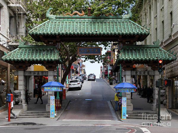 Photograph - San Francisco Chinatown Dragon Gate R401 by Wingsdomain Art and Photography