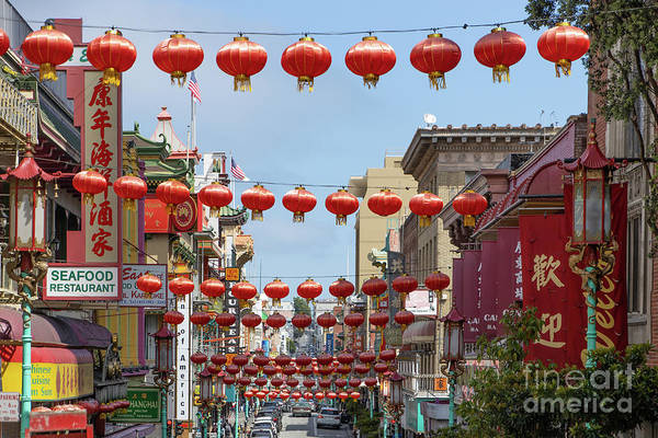 Photograph - San Francisco Chinatown Lanterns R428 by Wingsdomain Art and Photography