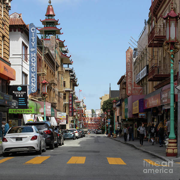 Photograph - San Francisco Chinatown R409 Sq by Wingsdomain Art and Photography