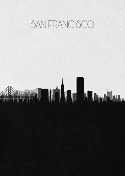 Wall Art - Digital Art - San Francisco Cityscape Art by Inspirowl Design