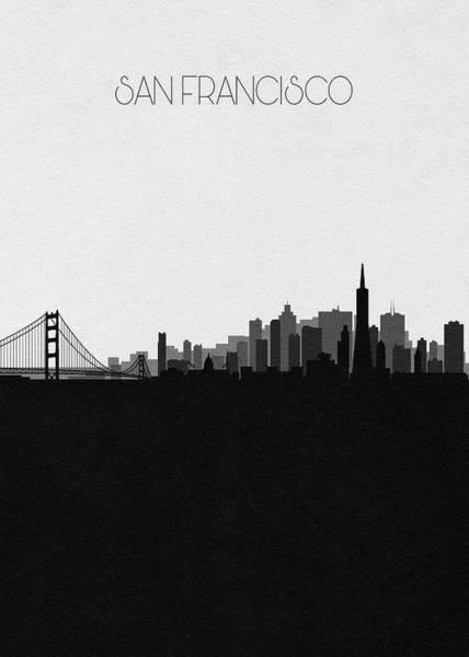 Wall Art - Drawing - San Francisco Cityscape Art V2 by Inspirowl Design