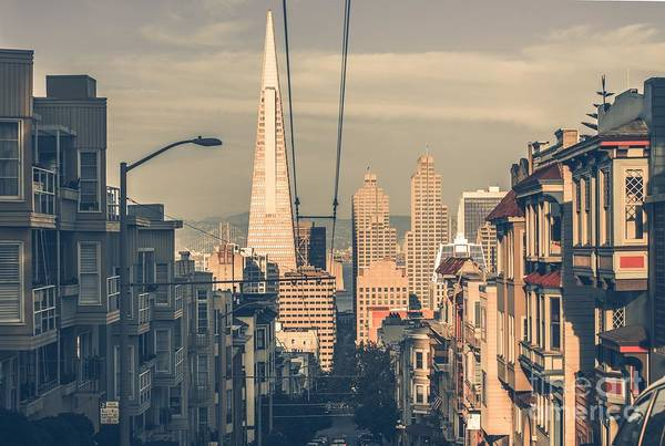 Wall Art - Photograph - San Francisco Cityscape At Sunset With by Welcomia