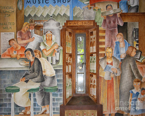 Photograph - San Francisco Coit Tower Mural R190 by Wingsdomain Art and Photography