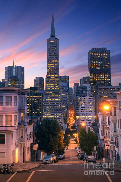 Wall Art - Photograph - San Francisco Downtown At Sunrise - by Im photo
