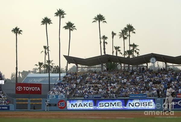 Photograph - San Francisco Giants V Los Angeles by Jed Jacobsohn