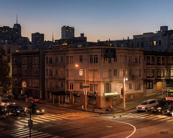 Photograph - San Francisco IIi Broadway And Van Ness Color by David Gordon