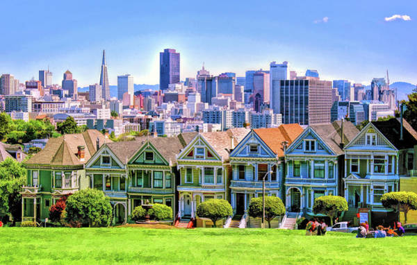 Painting - San Francisco Painted Ladies by Christopher Arndt