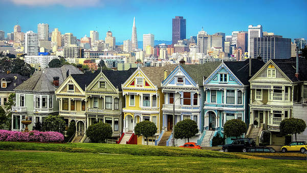 Wall Art - Photograph - San Francisco Painted Ladies by Daniel Hagerman