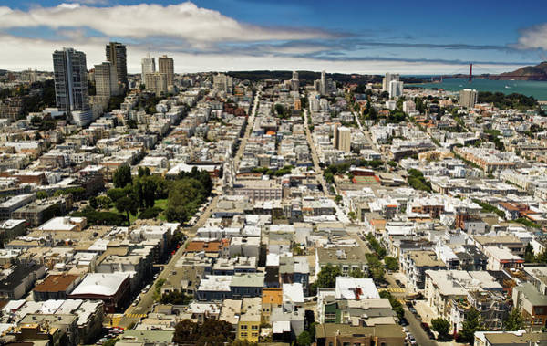 Coit Tower Photograph - San Francisco Panorama From Coit Tower by Jb Broccard