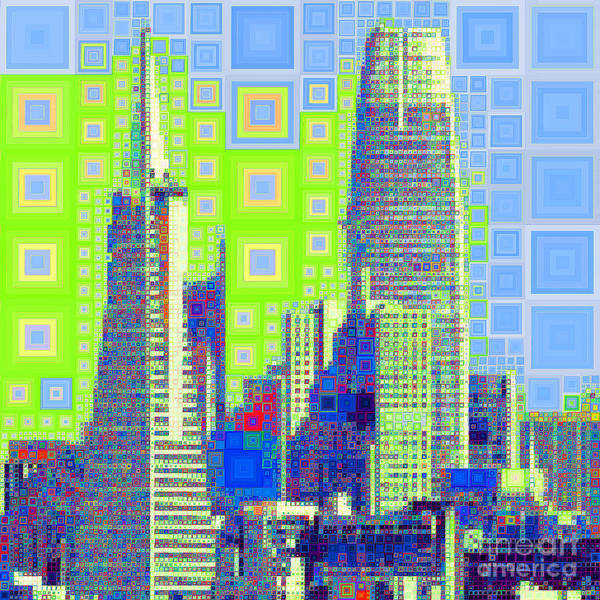 Photograph - San Francisco Salesforce Transbay Transit Center Tower And Transmerica Pyramid Skyline 20190207sqp38 by Wingsdomain Art and Photography