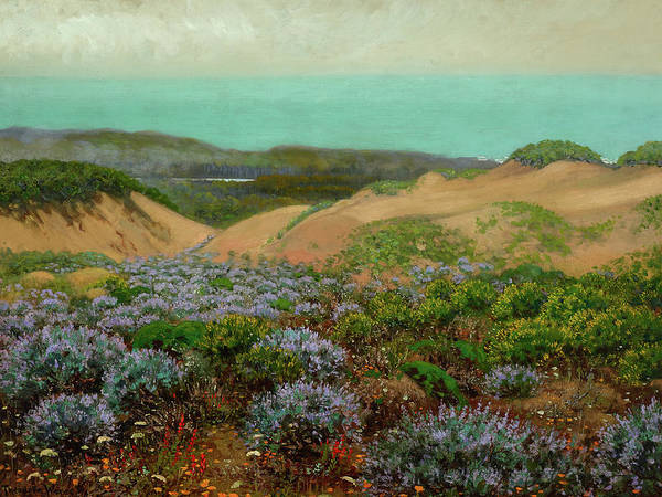 Silicon Valley Wall Art - Painting - San Francisco Sand Dunes And Lake Merced by Theodore Wores