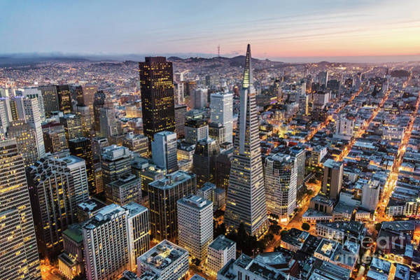 Wall Art - Photograph - San Francisco Skyline, Aerial View by Matteo Colombo