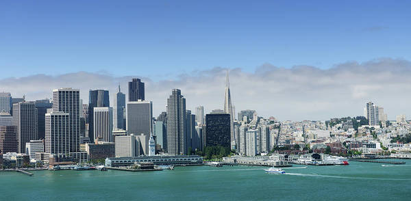 Dock Of The Bay Photograph - San Francisco Skyline Panoramic View by 4fr