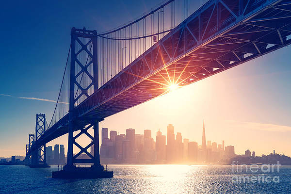 Wall Art - Photograph - San Francisco Skyline Retro View by Im photo