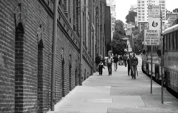 Photograph - San Francisco Street Scene 2007 Bw by Frank Romeo