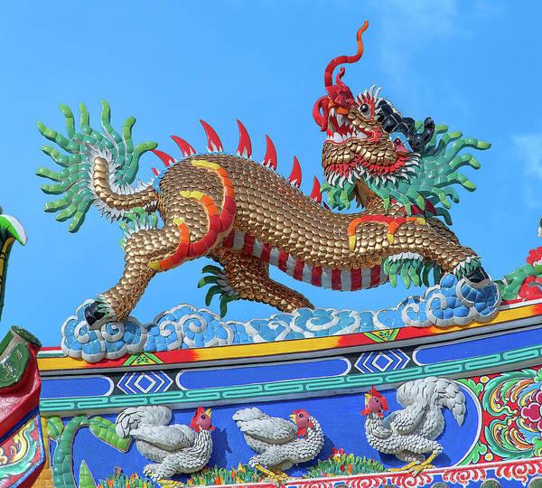 Photograph - San Jao Phut Gong Dragon Roof Dragon Goat Dthu0825 by Gerry Gantt