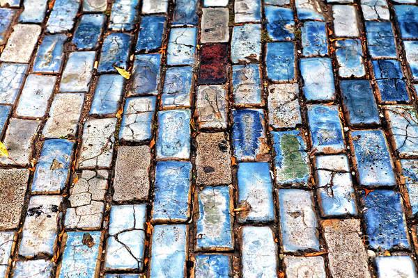 San Juan Blue Cobblestone Style Art Print