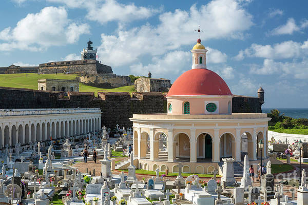 Photograph - San Juan Cemetery And Fortress by Brian Jannsen