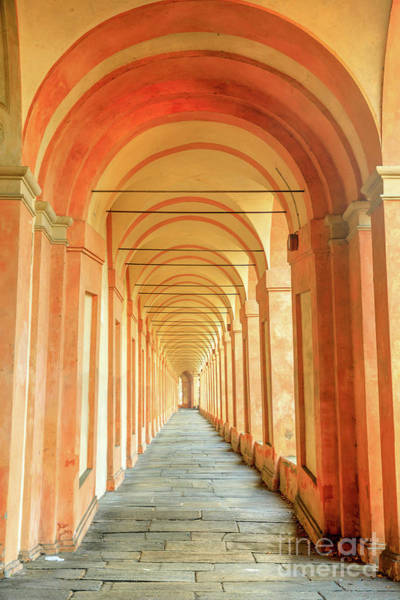 Photograph - San Luca Archway Background by Benny Marty