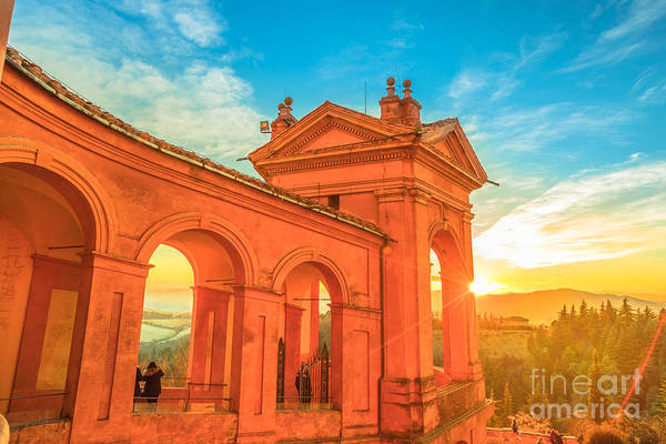 Photograph - San Luca At Sunset Bologna by Benny Marty